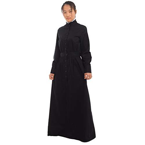 GRACEART Pionier Damen Kostüm Prärie Kleid (Medium, Dickes ronior) (Mädchen Colonial Girl Kostüm)