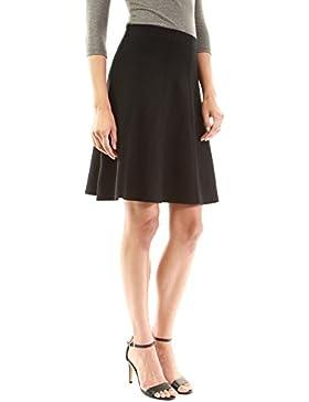 PattyBoutik Mujer Raya de la sombra ajuste falda de punto suéter falda