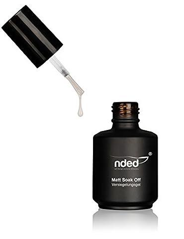nded -Soak-Off Gel Mat - Gel de finition, faible viscosité, adapté UV, LED approprié, sans acide