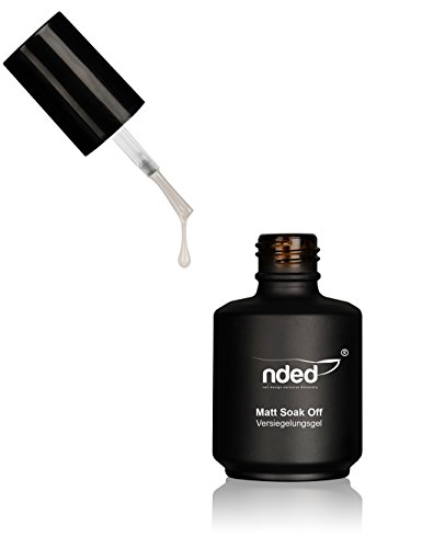 NDED Matt Soak-Off Versiegelungsgel - Finish-UV-Gel - Versiegler - Glanzgel - Top-Gel, 15 ml, dünnviskos, UV geeignet, LED geeignet, säurefrei