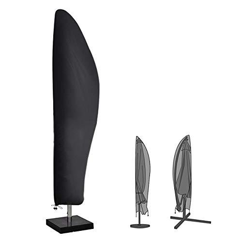 Velway copertura ombrellone impermeabile 265cm fodera protettiva per ombrellone decentrato parasole da spiaggia giardino balcone copri ombrellone con cerniera lampo laterale e cordicella in basso