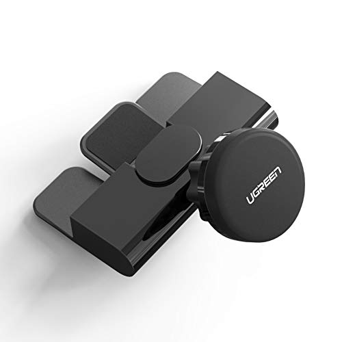 UGREEN Soporte Magnético Móvil Coche para Ranura CD, Soporte Móvil Coche Rotación de 360 Grados para Samsung S9 S8 S7 J7 J5 Xiaomi Mi A1 Redmi Note 4X 4 Mix 2S Mi6 Mi5 Huawei P20 P10 iPhone X 8 7