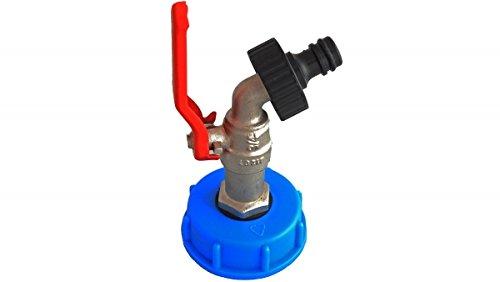 """IBC Wassertank-Zubehör, Kugelauslaufventil 3/4\"""" mit Varioadapter Gardenakompatibel, DIN61"""