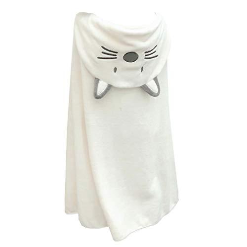Tier Kapuze Baby-Handtuch Waschlappen Ultra Soft und Extra Large, Baumwolle Bademantel for Groß Säuglings- / neugeborenes Dusche Geschenk for Jungen oder Mädchen (0-7 Jahre) (Color : White)