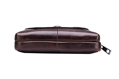 Genda 2Archer Bolsa de la Cintura PU Cuero Horizontal Tapa de la Correa Bolso de la Cintura Fanny (Estilo 1)