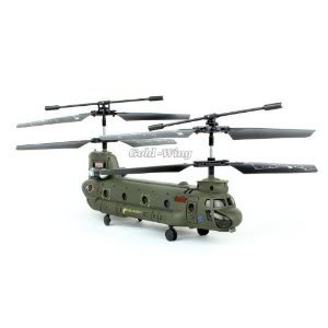 Syma 16.5cm S026g 3.5ch 3 Channel Mini Chinook Rc Helicopter Gyro Small Toy Gift Army-Green Toy / Game / Play / Child / Kid