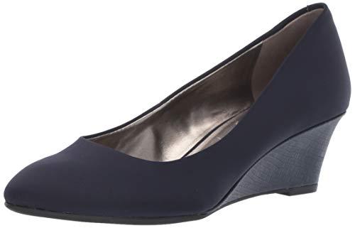 Bandolino Fayola Damen Keilabsatz, Blau (Navy Fabric), 38.5 EU Bandolino High Heels