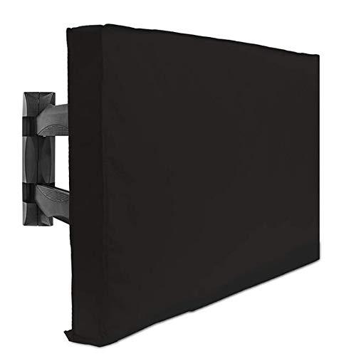 Preisvergleich Produktbild YAC Draussen TV-Abdeckung,  Schutzhülle Abdeckung Oxford-Tuch Mehrere Größen Modern Einfachheit Wasserdicht UV schützendes Farbecht Schwarz, 40x42cm