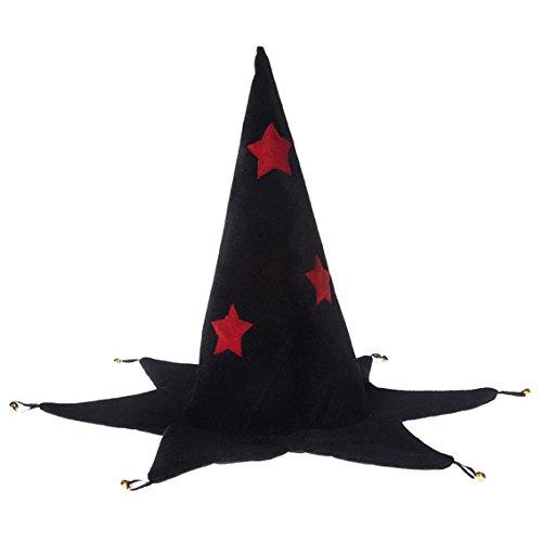 Rose & Romeo - 11009 - Accessoire Pour Déguisement - Chapeau - Wizard Aden - Noir/Rouge