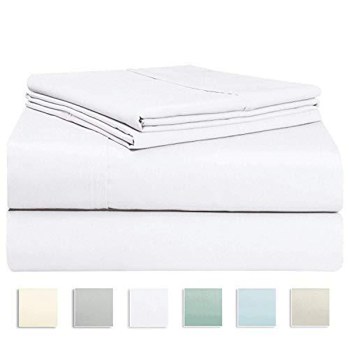 Juego de sábana Blanco de 400 conteo de hilos