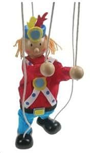 Marionnette clown en Bois