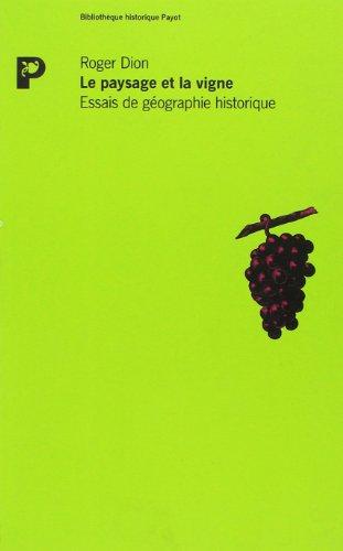 Le paysage et la vigne