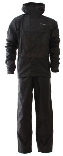 Twentyfour motion combinaison imperméable pluie femme combinaison avec sac de voyage pratique Noir - Noir