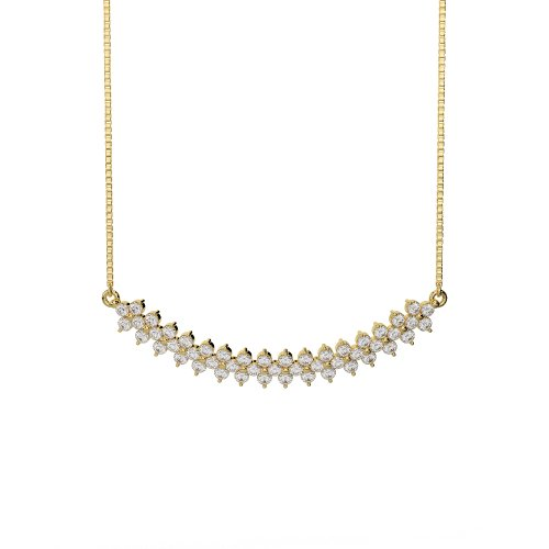 Or blanc/or jaune/Platine Diamant Collier avec chaîne ims-1762-vsgh