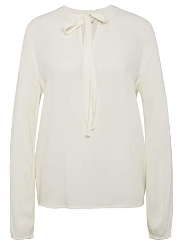 TOM TAILOR Denim Blusen, Shirts & Hemden Bluse mit Schleife Off White, S
