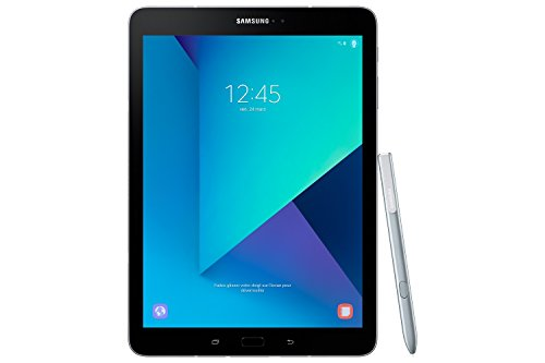 Samsung Galaxy Tab S3 T820 24,58 cm (9,68 Zoll) Touchscreen Tablet PC (Quad Core 4GB RAM 32GB eMMC Wi-Fi Android 7,0) silber inkl. S Pen -