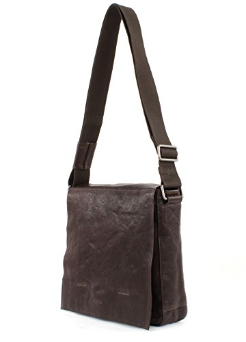 Strellson Coleman Messenger Leder 30 cm Laptopfach dark brown