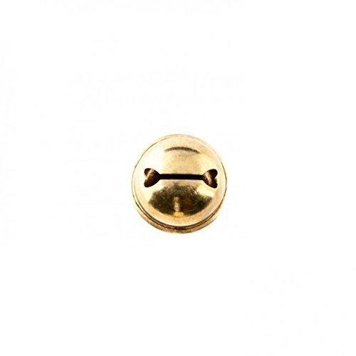 10x Glöckchen Glocke 32mm Schellen mit Öse (Gold)