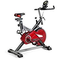 ECO-DE Bicicleta Spinning Absolut. Uso semiprofesional con pulsómetro, Pantalla LCD y Resistencia