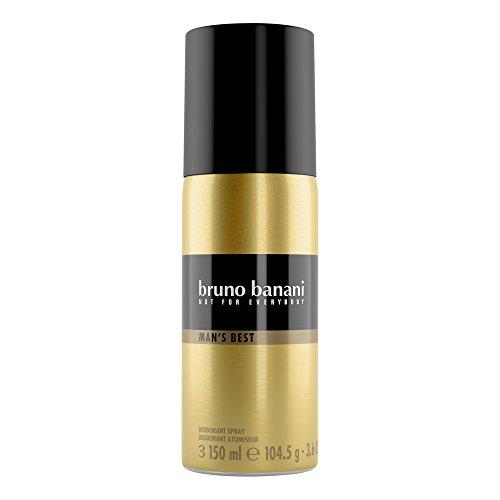 Bruno Banani Man's Best Deodorant Body Spray, maskulin, 1er Pack (1x 150 ml)