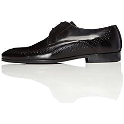 FIND Herren Schuh mit Lochverzierungen, Schwarz (Black), 43 EU