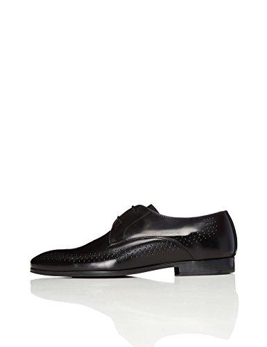 FIND Herren Schuh mit Lochverzierungen, Schwarz (Black), 40 EU