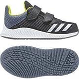 adidas Unisex Baby Fortarun Cloudfoam Sneaker, Schwarz (Carbon/Silvmt/Rawste), 24 EU