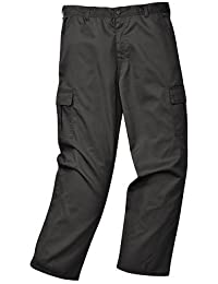 PORTWEST T701 Combat Work Trousers Black C701BK-T38