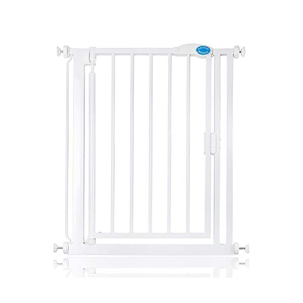 Bettacare Auto Close Pet Gate 75cm - 154cm Gate with Extensions (68.5cm - 75cm) Bettacare Pressure Fitted Two Way Opening (Widget on bottom bar can be adjusted to set gate opening towards or from user) Double Locking Mechanism 2