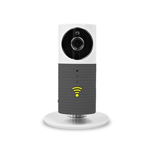 Galleria fotografica FancyTech Smart Baby Monitor 720P HD Mini IP Camera - Telecamera IP di Sorveglianza con Motion Detection, Audio Bidirezionale, P2P, Modalità Notturna Infrarossi – Videosorveglianza Interno - Grigio
