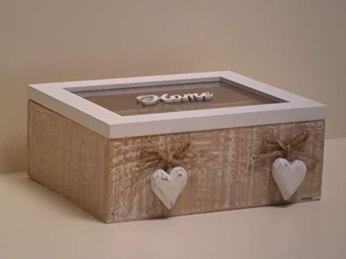 SWEET HOME Caja Rectangular de tè con 4 Compartimentos y ...
