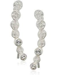 Pilgrim Mujer    chapado en plata redondo   blanco cristal