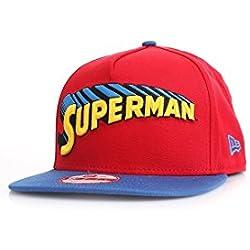 NEW ERA Reverse Classic Snapback–Superman–Scarlet de Blue rojo