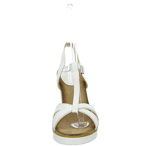 living Updated 1028-1 Damen Sandalette eleganter Boden Weiß (Weiß)