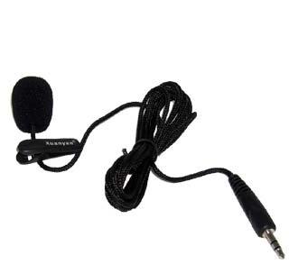 Un microphone 3.5mm mini compact avec prise Jack micro audio et un câble d'un mètre pour ordinateur portable avec caméra Skype, MSN, VoIP sous Windows