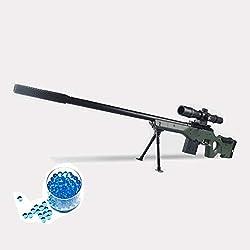 JINGYD Pistolet à Eau, Arme de Combat Militaire, Fusil de Sniper, Enfants en Plein air CS Bombe à Eau, Fusil à Sniper +10000 Bombe à Eau