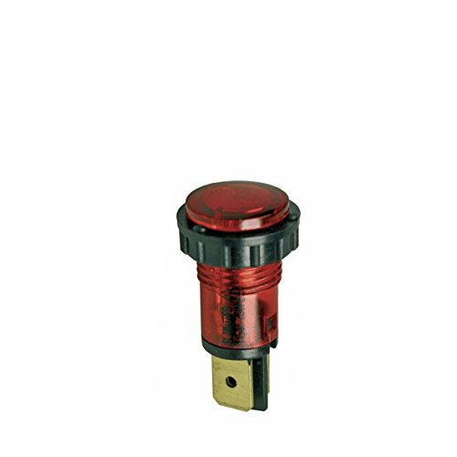 Kontrolllampe rot runder Kopf 14mm Ø 1-polig, 230 V
