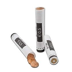 effektivo Euro Papier Münzhülsen für 1 Cent Münzen Inh. 80 Stück