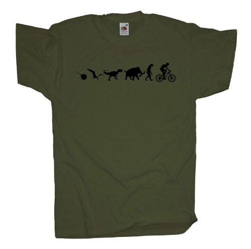 Ma2ca - 500 Mio Years - Mountainbike Biker T-Shirt Olive