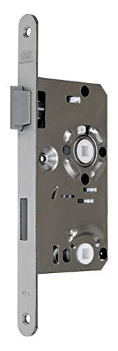 BKS Standard Badezimmer Türschloss mit Vierkant 55/78/8, Stulp: 20 x 235mm abgerundet, DIN Links incl. SN-TEC® Montageset