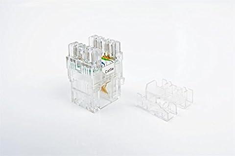 CAT5e RJ45 Transparent Unshielded Keystone Jacks Modul für Faceplate & Wandbox & Patch Panel 10pcs / pack (Clear)