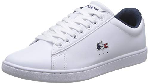 Lacoste Carnaby EVO Tri 1 SFA, Zapatillas para Mujer, Blanco Wht/Nvy/Red, 36 EU