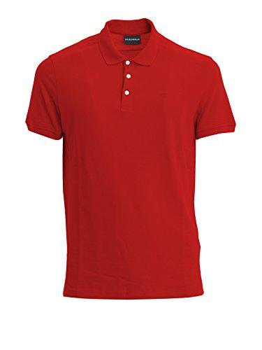 Emporio Armani Herren Poloshirt Rot Bordeaux L Bordeaux