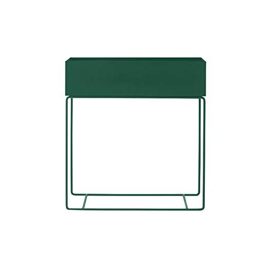 Family History Blumen-Topf-Halter, Nordic Simplistic Schmiedeeisen Pflanze Display Rack Blumenständer Für Schlafzimmer Wohnzimmer Für Haus Und Heim, 25 * 60 * 74Cm,Deepgreen