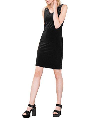 ESPRIT Damen Kleid 116EE1E023, Schwarz (Black 001), 38 (Herstellergröße: M)