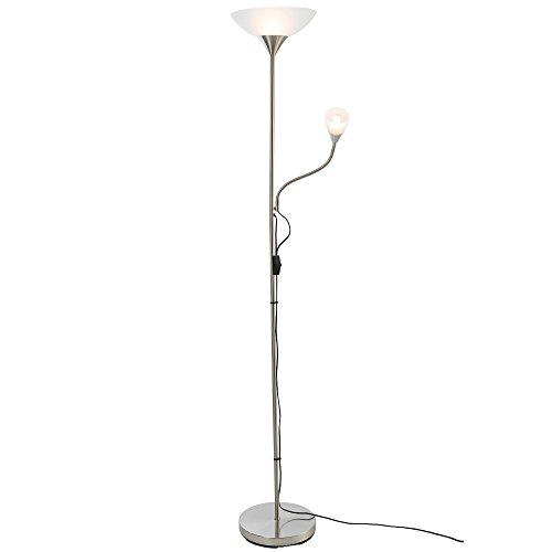 Lampadaire avec 2 lumières Lampe à pied LED Lumière standard Conception vertical