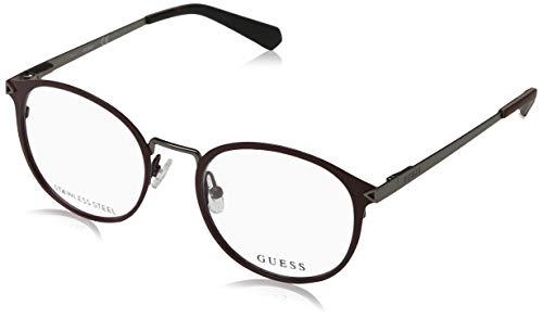 Guess Unisex-Erwachsene GU1957 070 51 Brillengestelle, Rot (Bordeaux Opaco),