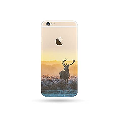Jinberry Soft TPU Slim Case with Dust Plug for iphone5s / SE Plus Colourful Printing Pattern, Ultra Thin Fit 0.5mm Scratch Resistant Silicone Shell for Apple iphone 5S / SE - Deer