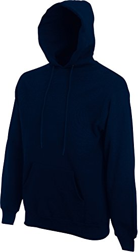 Fruit of the Loom Hooded Sweat Deep Navy - L