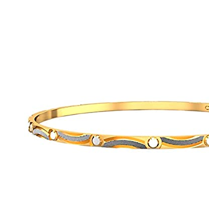 Candere By Kalyan Jewellers Contemporary Collection 22k Yellow Gold Welsie Bangle